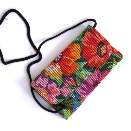Assorted Huipil Crossbody Clutch