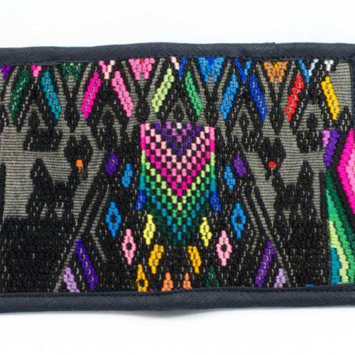 Double Fold Geo Huipil Wallet