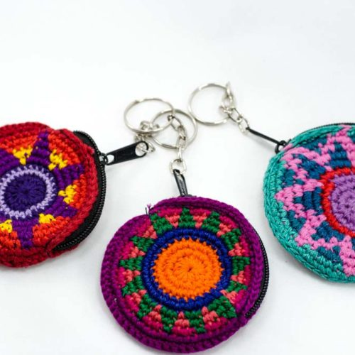 Doz. Mini Round Crochet Key Chains