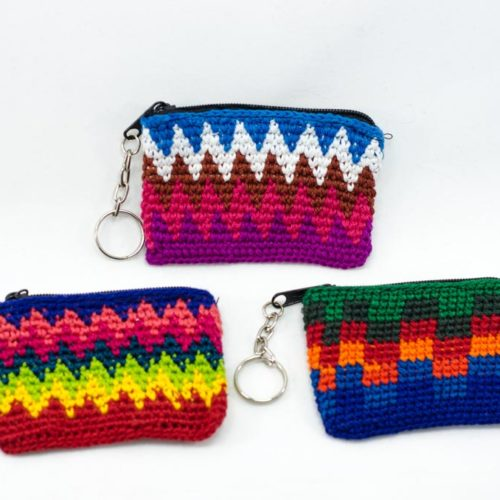 Doz. Mini Rectangular Crochet Key Chains