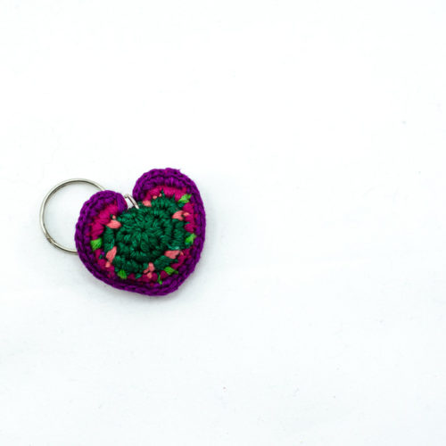 Doz. Mini Crochet Heart Key Chains