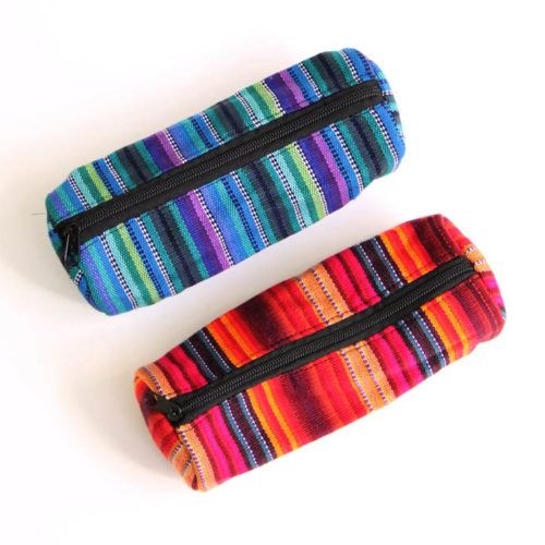 Round Ikat Pencil Case