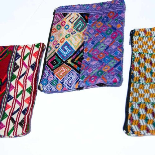 Double Side Huipil Cosmetic Bag