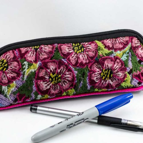 Oval Huipil Pencil Case