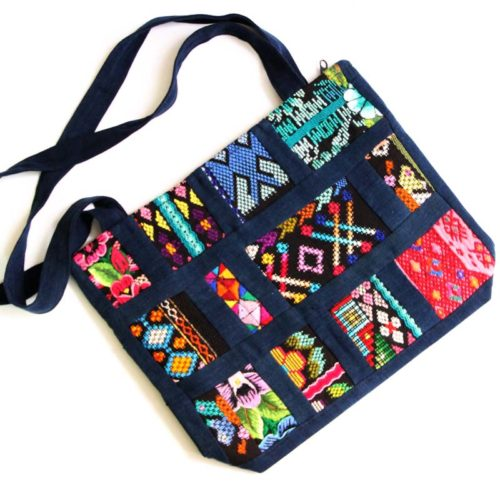 "Mix Patchwork Shoulder Bag ""S"""