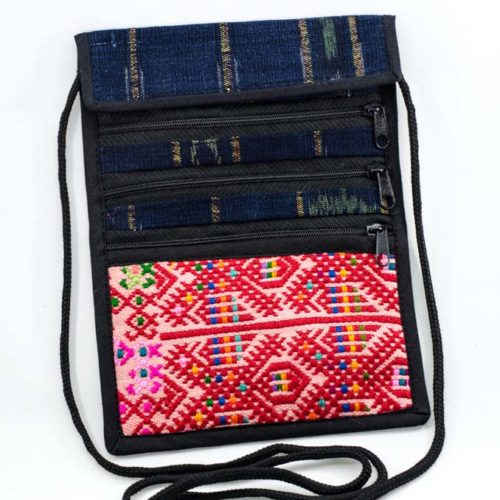 3 Zipper Huipil Organizer Pouch with Strap