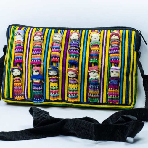 "Crossbody Pouch with Worry Dolls ""L"""