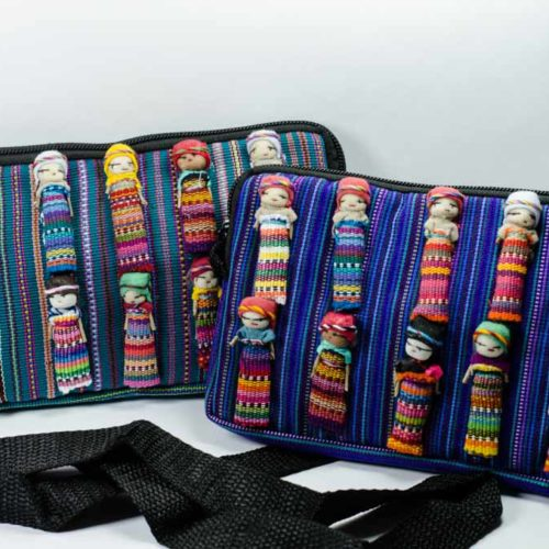 "Crossbody Pouch with Worry Dolls ""S"""