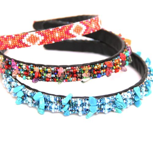 Beaded Hairband  with Crystals
