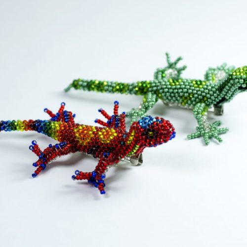 Beaded Geko Pin