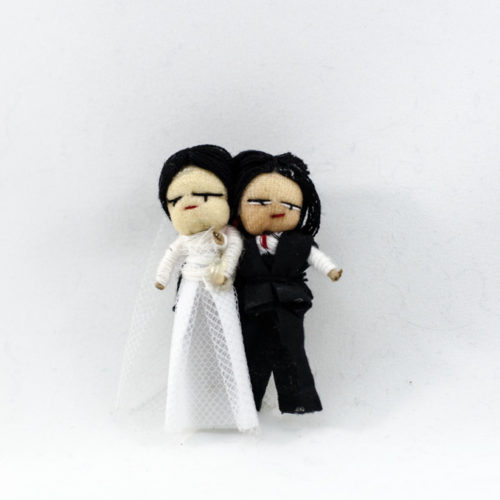Doz. Wedding Couple Worry Dolls