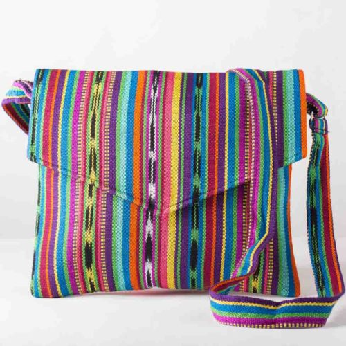 Ikat Envelope Design Messenger Bag