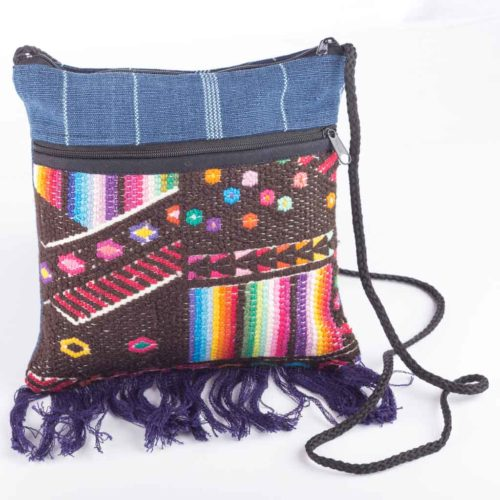 Small Geo Fringe Crossbody Bag