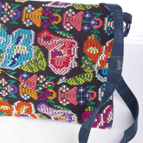 """Huipil Envelope Design Messenger Bag """"L"""""""