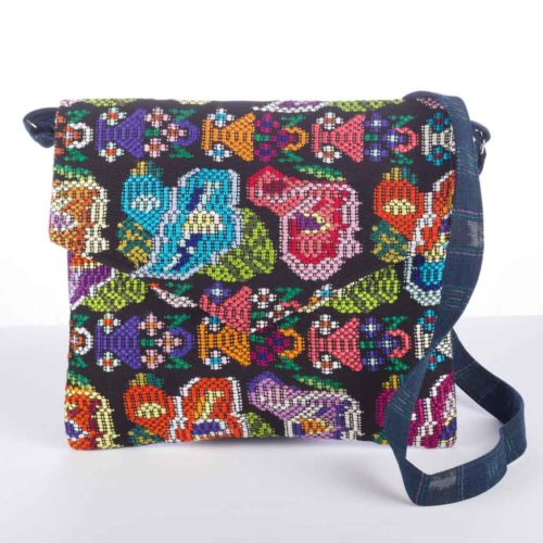 "Huipil Envelope Design Messenger Bag ""L"""