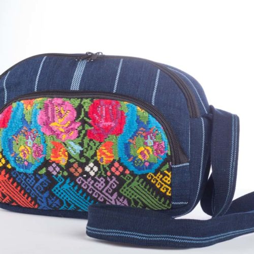 Oval Crossbody Bag with Firm Lining