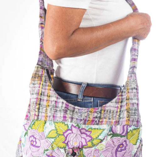 Floral Design Crossbody Bag