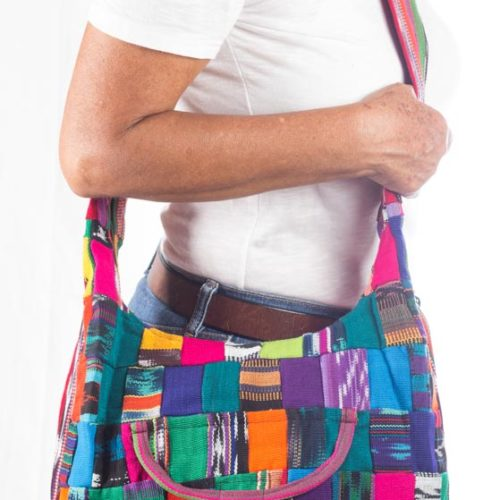 Ikat Patchwork Crossbody Bag