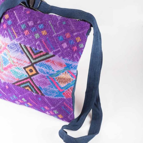 Square Huipil Crossbody Bag