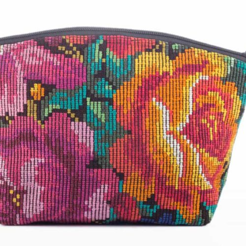 "Huipil Cosmetic Bag with Pompom ""M"""