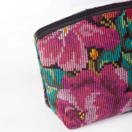 """Huipil Cosmetic Bag with Pompom """"M"""""""