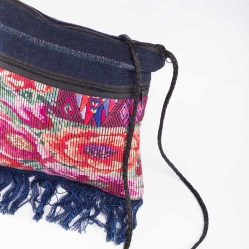 Small Huipil Fringe Crossbody Bag