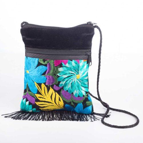 Velvet Fringe Crossbody Bag