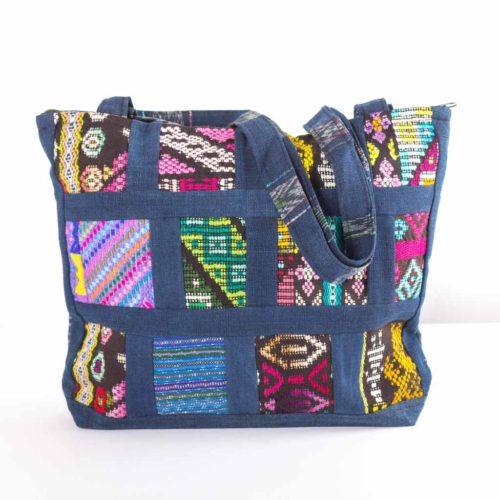 "Mix Patchwork Shoulder Bag ""L"""
