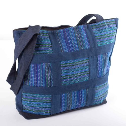 Aqua Patchwork Shoulder Bag