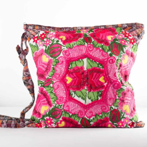 Square Floral Design Crossbody Bag