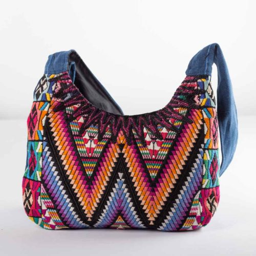 Geo Oval Design Shoulder Bag