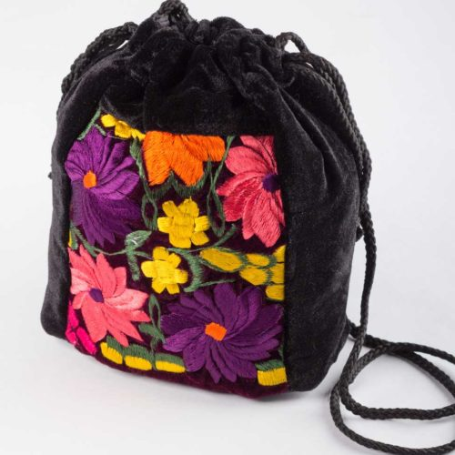 "Velvet Drawstring Crossbody Bucket bag ""M"""
