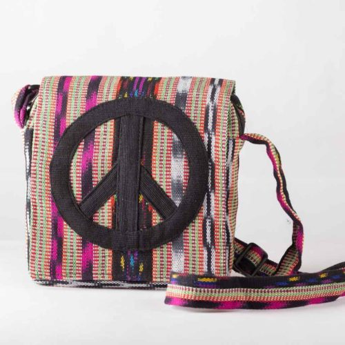 Mini Peace Sign Messenger Bag
