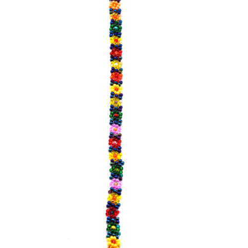 Doz. Colorful Daisies Beaded Bracelet