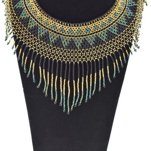 Pharaoh Fringe Beaded Necklace