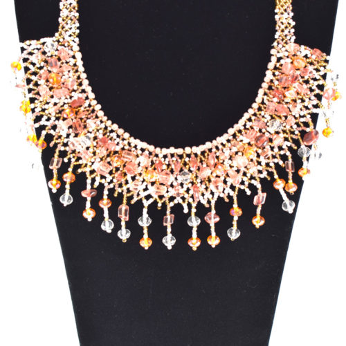 Crystalin Beaded Necklace