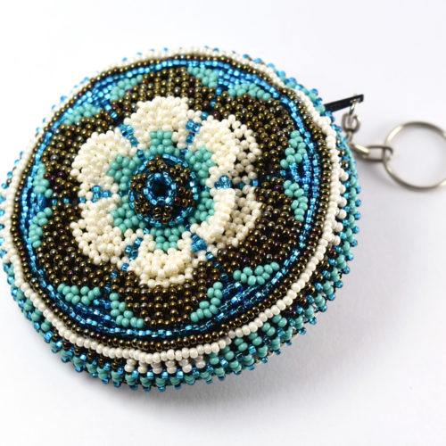 Beaded Flower Coin Purse