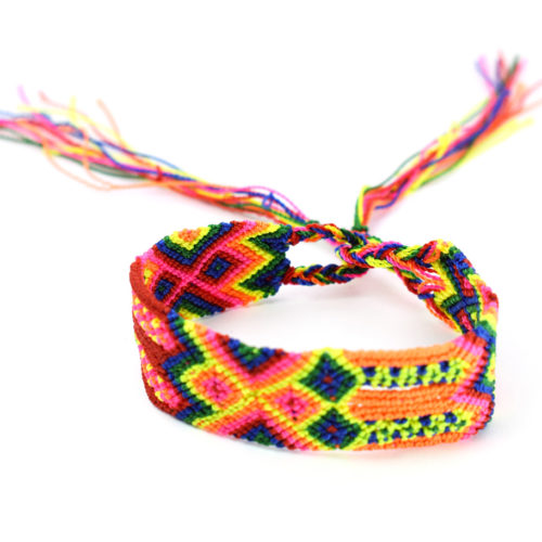 "Doz. of Neon Friendship Bracelets ""M"""