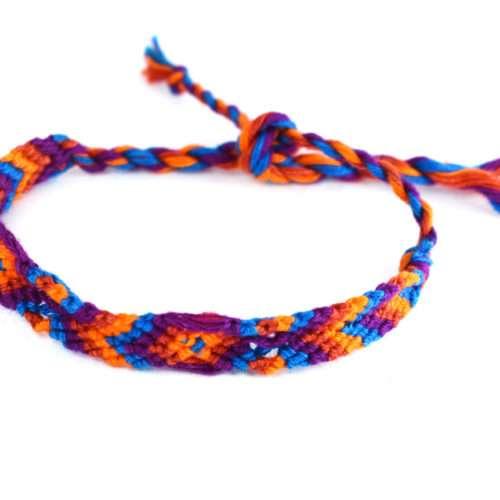 """Pack of Cotton Friendship Bracelets """"S"""" (120 pieces)"""