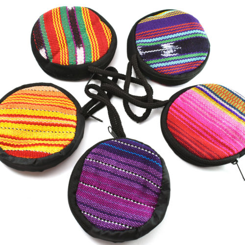 Ikat Round Coin Purse