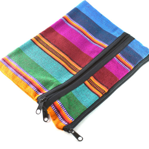 Ikat 3 Zip Square Pouch