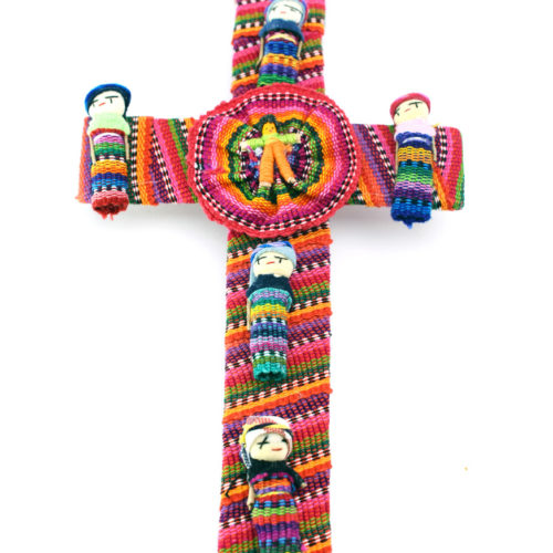 "Decorative Cross with Worry Dolls ""L"""