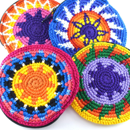 Round Crochet Coin Purse