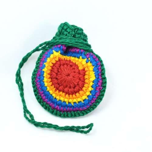 Doz. Round Crochet Crystal Pouches