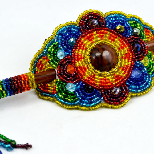 "Beaded Barrete with Stick ""L"""