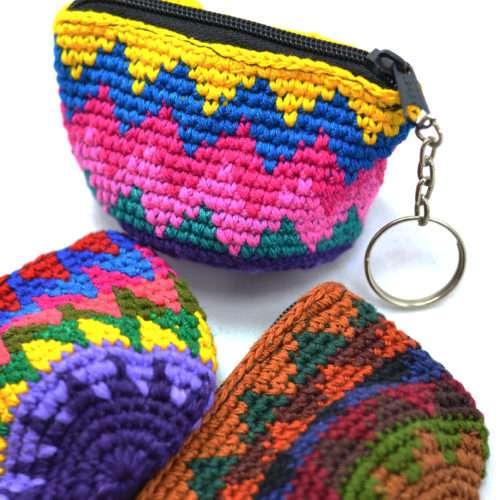 Doz. Half Moon Crochet Key Chains