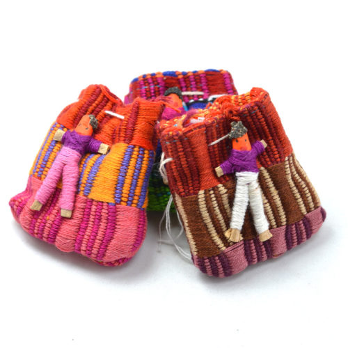 "Doz. of Worry Dolls in Panal Pouches ""S"""