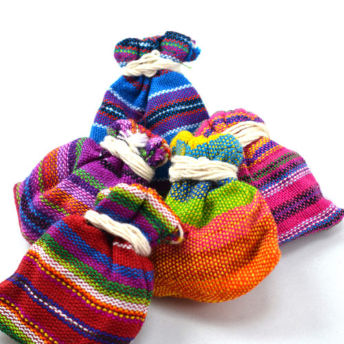 "Doz. of Worry Dolls in Ikat Pouches ""S"""