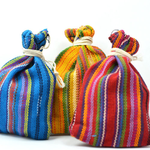 "Doz. of Worry Dolls in Ikat Pouches ""L"""
