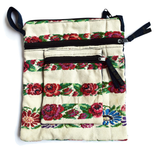Assorted Huipil Crossbody Bag with Front Pouch